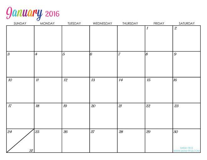 January 2015 Calendar Blank Template Blank Calendar 2015 ...